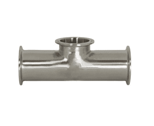 "B7MPS-R150 Dixon 316L Stainless Steel Sanitary Short Outlet Clamp Tee - 1-1/2"" Tube OD"