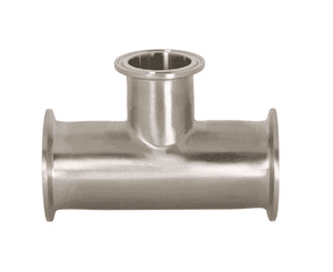 "B7RMP-G250150 Dixon 304 Stainless Steel Sanitary Clamp Reducing Tee - 2-1/2"" x 1-1/2"" Tube OD"