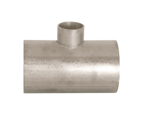 "B7RWWW-G300150U Dixon 304 Stainless Steel Sanitary Unpolished Reducing Weld Tee - 3"" x 1-1/2"" Tube OD"