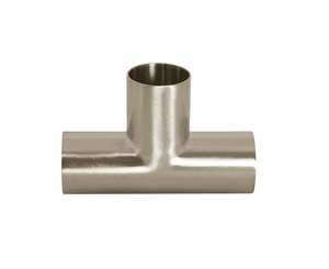 "B7W-G150P Dixon 304 Stainless Steel Sanitary Polished Long Weld Tee - 1-1/2"" Tube OD"