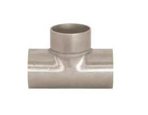 "B7WWW-G300U Dixon 304 Stainless Steel Sanitary Unpolished Short Weld Tee - 3"" Tube OD"