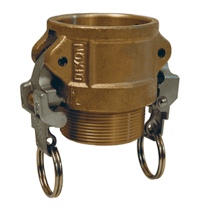 "BB100EZ Dixon 1"" Brass EZ Boss-Lock Type B Coupler"