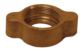 "BB12 Dixon 3/4"" and 1"" Brass Ground Joint - Wing Nut"