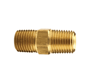 "BCN25 Dixon Brass Hex Nipple - 1/4"" x 1/4"" NPTF Thread Adapter"
