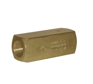 "BCV400 Dixon Brass Check Valve - Series C - 1/4"" Female NPT"