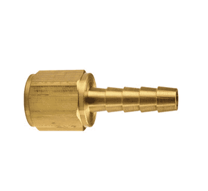 "BF22 Dixon Brass Barbed Solid Female Insert - 1/4"" Hose ID - 1/4"" NPTF Thread"