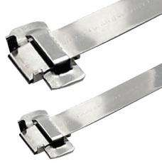 "Band-It BFES-A1230-048 BAND-FAST with Ear-Lokt Buckle, 201SS 1/2"" x 0.030"" x 48"" - 25 Pieces/Box"