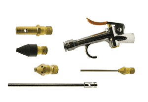 "BG-KIT-F2 ZSi-Foster Blow Gun Kit - Includes: Lever-Operated Blow Gun, High Flow Safety Nozzle, 6"" Extension Safety Nozzle, Rubber Tip Nozzle, Needle Tip Nozzle, Air-Screen Safety Nozzle"