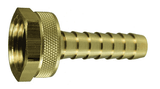"BLS447 Dixon Long Shank Female Coupling - 1/2"" Hose ID x 3/4"" GHT Thread - Brass"