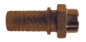 "BMS16 Dixon Brass Boss Male Stem - 1-1/4"" Hose Shank x 1-1/4"" Male NPT"