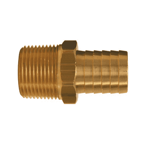 "BN22 Dixon Brass Barbed Male Insert - 1/4"" Hose ID - 1/4"" NPTF"
