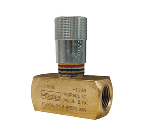 "BN600 Dixon Brass Flow Control Valve - Series N - 3/8"" Thread"