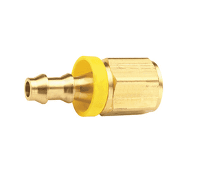"BPF43 Dixon Brass 3/8"" Female NPTF x 1/2"" ID Push-on Hose Barb Fitting - National Pipe Tapered - Dryseal"