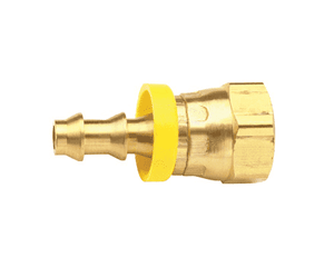 "BPFS44 Dixon Brass 1/2"" Female NSPM Swivel x 1/2"" ID Push-on Hose Barb Fitting - Ball Seat Type"