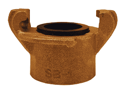 BSC125 Dixon Brass Sand Blast Threaded Coupling - 1-1/4""