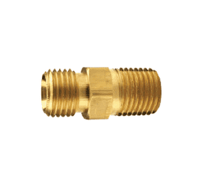 "BSM21 Dixon Brass Ball Seat to Male Pipe - 1/4"" NPSM x 1/8"" NPTF Adapter"