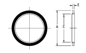 FF9895-12 BSPP Bonded Seal O-Rings for DIN 3852-2 Ports