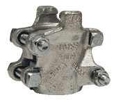 "206 Dixon Plated Iron Boss Clamp for Hose ID 1-1/4"" and Hose OD from 1-56/64"" to 2-4/64"""