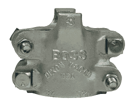 "B35 Dixon Plated Iron Boss Clamp for Hose ID 3"" and Hose OD from 3-52/64"" to 4-4/64"""