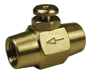 "BV2F Dixon Brass Button Valve - 1/4"" NPT Female Thread"