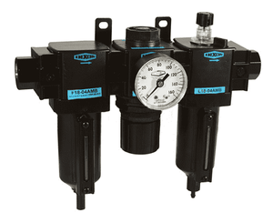 "C18-04AMB Dixon Wilkerson 1/2"" Compact Combination Unit with Metal Bowl - Automatic Drain - 160 SCFM"