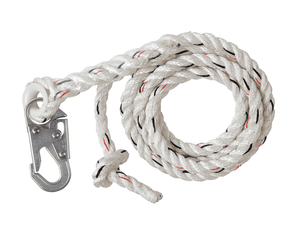 C7052 Malta Dynamics 25' Vertical Lifeline Assembly with Snap Hooks