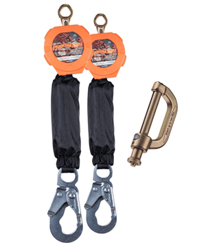 C7102D Malta Dynamics Dual 6' Pygmy Hog® Web Self-Retracting Lifeline with Connector Kit (Steel Snap Hook)