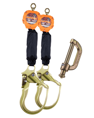 C7103D Malta Dynamics Dual 6' Pygmy Hog® Web Self-Retracting Lifeline with Connector Kit (Peri Form Hook)