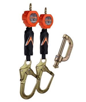 C7104D Malta Dynamics Dual 6' Pygmy Hog® Web Self-Retracting Lifeline with Connector Kit (Rebar Hook)