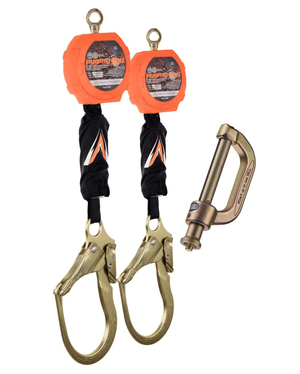 C7202D Malta Dynamics Dual 11' Pygmy Hog® Web Self-Retracting Lifeline with Connector Kit (Peri Form Hook)