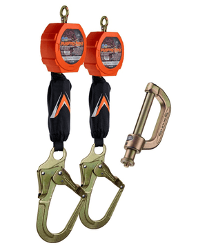 C7203D Malta Dynamics Dual 11' Pygmy Hog® Web Self-Retracting Lifeline with Connector Kit (Rebar Hook)