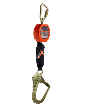 C7203 Malta Dynamics 11' Pygmy Hog® Web Self-Retracting Lifeline with Rebar Hook