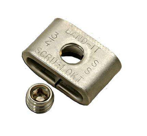 "C72299 Band-It Scru-Lokt Buckles, 301SS 1/4 hard, 3/8."" Thread size of set screw: 1/4 - 28 X 3/16 SS - 50 Pieces/Box"