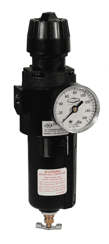"CB6-02MGMB Dixon Wilkerson 1/4"" Compact Filter / Regulators with Metal Bowl with Sight Glass - Manual Drain - 64.0 SCFM"