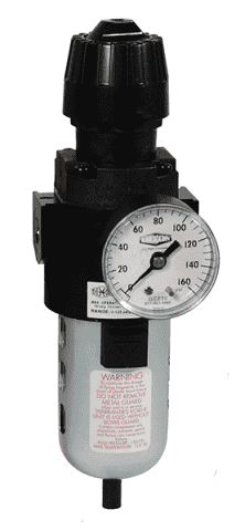 "CB6-04AG Dixon Wilkerson 1/2"" Compact Filter / Regulators with Transparent Bowl and Guard - Automatic Drain - 70.0 SCFM"