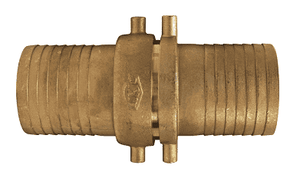 "BS93N Dixon 2-1/2"" King Short Shank Suction Complete Coupling with NST (NH) Thread (Brass Shanks with Brass nut)"