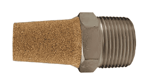 "CMF18 Dixon Nickel Plated Steel Conical Muffler - 1/8"" NPT Thread Size - 1-1/8"" Overall Length"