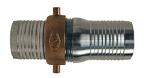 "CSB125 Dixon 1-1/4"" Steel King Short Shank Suction Complete Coupling with NPSM Thread (Plated Steel Shank with Brass Nut)"