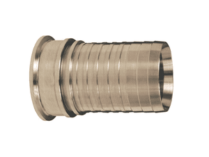 "CSSR200 Dixon 2"" 316 Stainless Steel Sanitary Style Crimp Stem - Clamp End x Hose Shank"