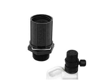 "CTS200D Banjo Polypropylene Tank Adapter w/ 2"" Male NPT Threads - Pipe Size: 2"" - 40 PSI"