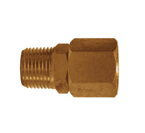 "D344R Dixon Brass In-Line Swivel - 1/4"" Male NPT x 1/4"" Female NPT"