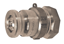 "DBA12-1520 Dixon Aluminum Dry Break Cam and Groove Dry Disconnect Jump Size 2"" Adapter x 2"" Female NPT with Viton Seal"