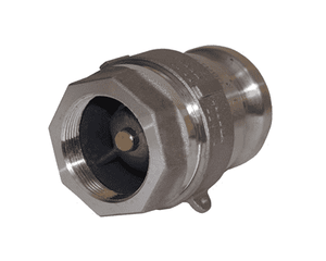 "DBA12-150 Dixon Aluminum Dry Break Cam and Groove Dry Disconnect 2"" Adapter x 1-1/2"" Female NPT with Viton Seal"