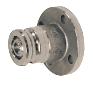 "DBAF72-1520 Dixon Stainless Steel Dry Break Cam and Groove Dry Disconnect 2"" Adapter x 2"" 150# ASA Flange with Viton Seal"