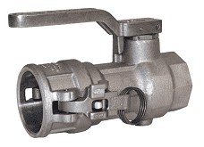 "DBC77-200-GL Dixon Stainless Steel Dry Break Cam and Groove Dry Disconnect Greaseless 2-1/2"" Coupler x 2"" Female NPT with PTFE Encapsulated Viton & Kalrez Seal"