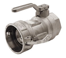 "DBC77-300 Dixon Stainless Steel Dry Break Cam and Groove Dry Disconnect 4"" Coupler x 3"" Female NPT with PTFE Encapsulated Viton & Kalrez Seal"