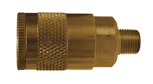 "DC101 Dixon Brass Air Chief Automotive Interchange Quick-Connect Coupler (Semi-Automatic Pull Sleeve to Connect) - Male Pipe Thread - 1/4"" Body Size x 1/8"" Male NPT"