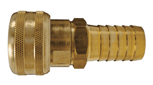 "DC2042 Dixon Air Chief Brass Semi-Automatic Pull Sleeve Quick-Connect Coupler - Standard Hose Barb - 1/4"" Body Size x 1/4"" Hose ID"