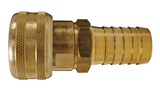 "DC2043 Dixon Air Chief Brass Semi-Automatic Pull Sleeve Quick-Connect Coupler - Standard Hose Barb - 1/4"" Body Size x 5/16"" Hose ID"