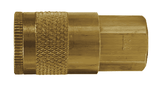 "DC2 Dixon Brass Air Chief Automotive Interchange Quick-Connect Coupler (Semi-Automatic Pull Sleeve to Connect) - Female Pipe Thread - 1/4"" Body Size x 1/4"" Female NPT"